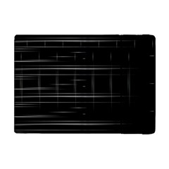 Stripes Black White Minimalist Line Apple Ipad Mini Flip Case