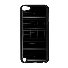 Stripes Black White Minimalist Line Apple Ipod Touch 5 Case (black)
