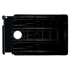 Stripes Black White Minimalist Line Apple Ipad 3/4 Flip 360 Case by Mariart