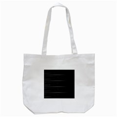 Stripes Black White Minimalist Line Tote Bag (white) by Mariart