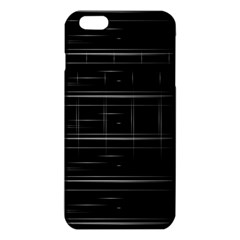 Stripes Black White Minimalist Line Iphone 6 Plus/6s Plus Tpu Case by Mariart