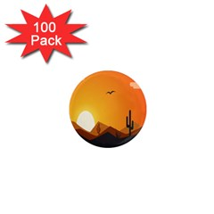 Sunset Natural Sky 1  Mini Magnets (100 Pack)