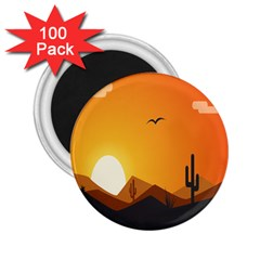 Sunset Natural Sky 2 25  Magnets (100 Pack)  by Mariart