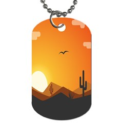 Sunset Natural Sky Dog Tag (two Sides) by Mariart