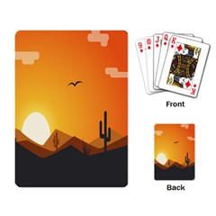 Sunset Natural Sky Playing Card by Mariart