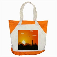 Sunset Natural Sky Accent Tote Bag by Mariart