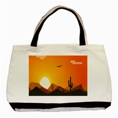Sunset Natural Sky Basic Tote Bag (two Sides) by Mariart