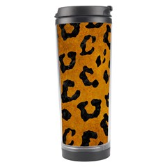 Skin5 Black Marble & Yellow Grunge (r) Travel Tumbler by trendistuff