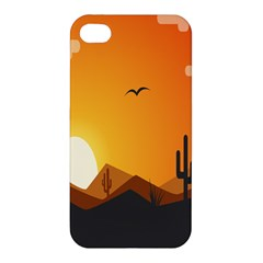 Sunset Natural Sky Apple Iphone 4/4s Hardshell Case by Mariart