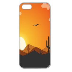 Sunset Natural Sky Apple Seamless Iphone 5 Case (clear) by Mariart