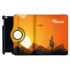 Sunset Natural Sky Apple Ipad 3/4 Flip 360 Case by Mariart
