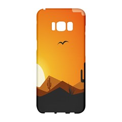Sunset Natural Sky Samsung Galaxy S8 Hardshell Case  by Mariart