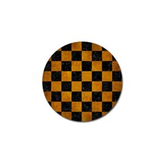 Square1 Black Marble & Yellow Grunge Golf Ball Marker (4 Pack) by trendistuff