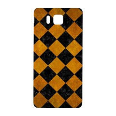 Square2 Black Marble & Yellow Grunge Samsung Galaxy Alpha Hardshell Back Case by trendistuff