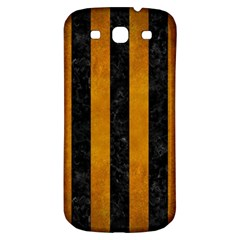 Stripes1 Black Marble & Yellow Grunge Samsung Galaxy S3 S Iii Classic Hardshell Back Case by trendistuff