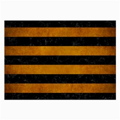 Stripes2 Black Marble & Yellow Grunge Large Glasses Cloth (2 Side) by trendistuff