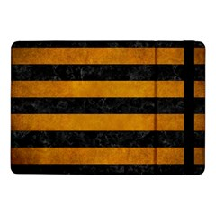 Stripes2 Black Marble & Yellow Grunge Samsung Galaxy Tab Pro 10 1  Flip Case by trendistuff
