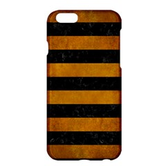 Stripes2 Black Marble & Yellow Grunge Apple Iphone 6 Plus/6s Plus Hardshell Case by trendistuff
