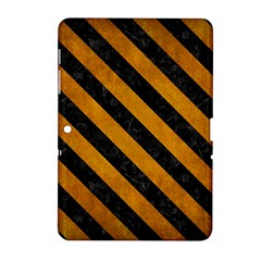 Stripes3 Black Marble & Yellow Grunge Samsung Galaxy Tab 2 (10 1 ) P5100 Hardshell Case  by trendistuff