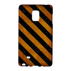 Stripes3 Black Marble & Yellow Grunge Galaxy Note Edge