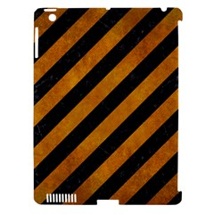 Stripes3 Black Marble & Yellow Grunge (r) Apple Ipad 3/4 Hardshell Case (compatible With Smart Cover) by trendistuff