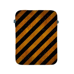 Stripes3 Black Marble & Yellow Grunge (r) Apple Ipad 2/3/4 Protective Soft Cases by trendistuff