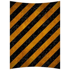 Stripes3 Black Marble & Yellow Grunge (r) Back Support Cushion by trendistuff