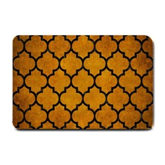 Tile1 Black Marble & Yellow Grunge Small Doormat  by trendistuff