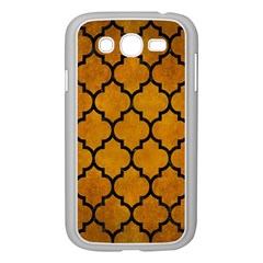 Tile1 Black Marble & Yellow Grunge Samsung Galaxy Grand Duos I9082 Case (white) by trendistuff