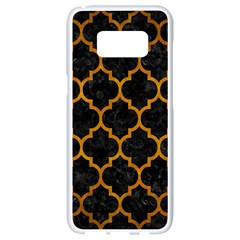Tile1 Black Marble & Yellow Grunge (r) Samsung Galaxy S8 White Seamless Case by trendistuff