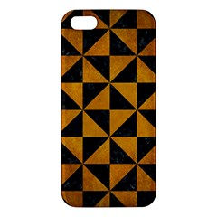 Triangle1 Black Marble & Yellow Grunge Apple Iphone 5 Premium Hardshell Case by trendistuff