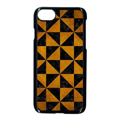Triangle1 Black Marble & Yellow Grunge Apple Iphone 8 Seamless Case (black)