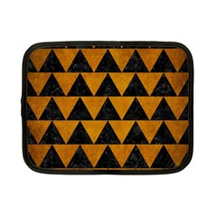 Triangle2 Black Marble & Yellow Grunge Netbook Case (small)  by trendistuff