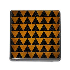 Triangle2 Black Marble & Yellow Grunge Memory Card Reader (square) by trendistuff