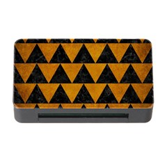 Triangle2 Black Marble & Yellow Grunge Memory Card Reader With Cf by trendistuff