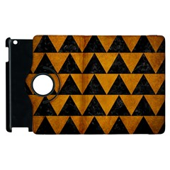 Triangle2 Black Marble & Yellow Grunge Apple Ipad 2 Flip 360 Case by trendistuff