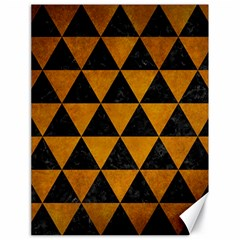 Triangle3 Black Marble & Yellow Grunge Canvas 18  X 24   by trendistuff
