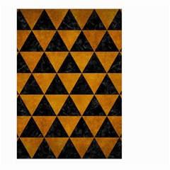 Triangle3 Black Marble & Yellow Grunge Large Garden Flag (two Sides) by trendistuff