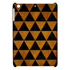 Triangle3 Black Marble & Yellow Grunge Apple Ipad Mini Hardshell Case by trendistuff