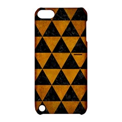 Triangle3 Black Marble & Yellow Grunge Apple Ipod Touch 5 Hardshell Case With Stand by trendistuff
