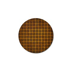 Woven1 Black Marble & Yellow Grunge Golf Ball Marker (10 Pack) by trendistuff