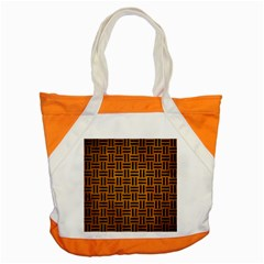 Woven1 Black Marble & Yellow Grunge Accent Tote Bag by trendistuff