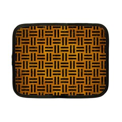 Woven1 Black Marble & Yellow Grunge Netbook Case (small)  by trendistuff