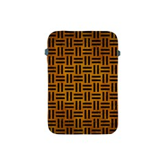 Woven1 Black Marble & Yellow Grunge Apple Ipad Mini Protective Soft Cases by trendistuff