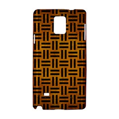 Woven1 Black Marble & Yellow Grunge Samsung Galaxy Note 4 Hardshell Case by trendistuff
