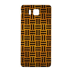 Woven1 Black Marble & Yellow Grunge Samsung Galaxy Alpha Hardshell Back Case by trendistuff