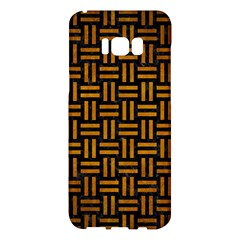 Woven1 Black Marble & Yellow Grunge (r) Samsung Galaxy S8 Plus Hardshell Case  by trendistuff