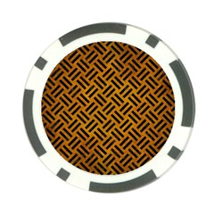 Woven2 Black Marble & Yellow Grunge Poker Chip Card Guard (10 Pack) by trendistuff