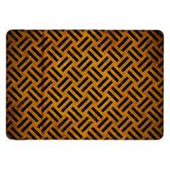 Woven2 Black Marble & Yellow Grunge Samsung Galaxy Tab 8 9  P7300 Flip Case by trendistuff