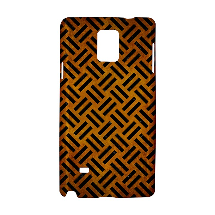 WOVEN2 BLACK MARBLE & YELLOW GRUNGE Samsung Galaxy Note 4 Hardshell Case